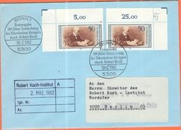 GERMANIA - GERMANY - Deutschland - ALLEMAGNE - 1982 - 2 X 100 Jahre Entdeckung Des Tuberkulose-Erregers, Robert Koch - F - FDC: Enveloppes