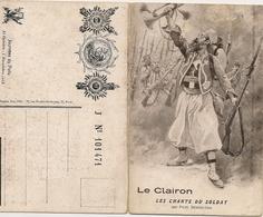 LE CLAIRON PAUL DEROULEDE JOURNÉE DU POILU Carte DoubleMusique Chanson Patriotique  Zouave - Patriottisch