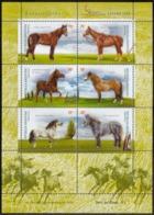 "Argentina - 2000 - ""España 2000"" - Chevaux - Horses - Yvert BF 74 - Hojas Bloque"
