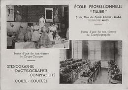 """59 LILLE - ECOLE PROFESSIONNELLE """" TILLIER"""" Carte Double - Lille"""
