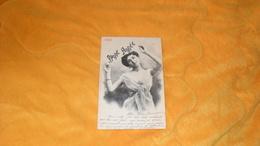 CARTE POSTALE ANCIENNE CIRCULEE DE 1903.../ PORTRAIT DE FEMME BONNE ANNEE 1903..CACHETS + TIMBRE - Nouvel An