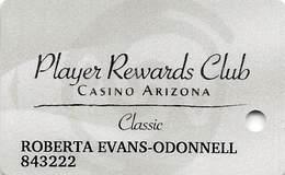 Casino Arizona & Talking Stick Resort, Salt River, AZ - Classic Slot Card - Reverse Logos Under Text - Casino Cards