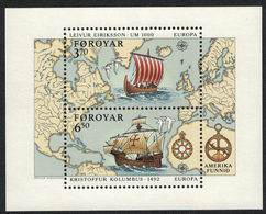 Faroe Islands 1992 _ Europe - Discovery Of America - Joint Issue With Iceland _ MNH ** - Isole Faroer
