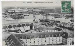 LORIENT EN 1909 - N° 1030 - VUE PANORAMIQUE DU PORT DE GUERRE - CPA VOYAGEE - Lorient