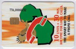 TELE TWO AFRICA à Puce - 10 Units = 30 Min. - Voir Scans - Zambie