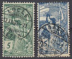 HELVETIA - SUISSE - SVIZZERA - 1900 - Lotto Di 2 Valori Usati: Yvert 86 E 91. - Gebraucht