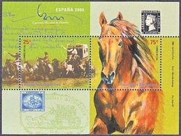 """Argentina - 2000 - """"España 2000"""" - Chevaux - Horses - Hojas Bloque"""