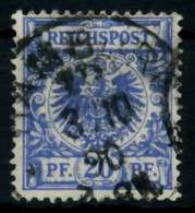D-REICH KRONE ADLER Nr 48a Gestempelt Gepr. X726F1A - Deutschland