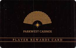 Parkwest Casinos - Multiple Locations In California - Slot Card - Casino Cards