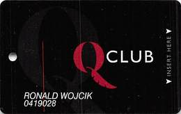 Quechan & Paradise Casinos Q Club Slot Card - 7 Lines Of Text In Reverse Paragraph - Casino Cards