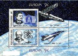 Romania 1994 _ Space - Perforated - Europa 94 _ Minisheet _ MNH ** - Blocchi & Foglietti
