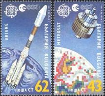 Bulgaria 1991 _ Space _ Europa 91 - Perforated _ MNH ** - Francobolli Di Servizio