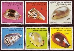 Dschibuti MiNr. 351/56 ** Meeresschnecken - Dschibuti (1977-...)