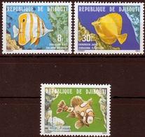 Dschibuti MiNr. 231/33 ** Fische - Dschibuti (1977-...)