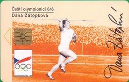 CZECHREP : CZ85B  GEM13 (not Symmetric) Dana Zatopkova Sports Beer , Car Thematic USED - Tchéquie