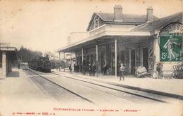 CONTREXEVILLE  Arrivé Du Train à La Gare  34 (scan Recto Verso)MG2828TER - Vittel Contrexeville