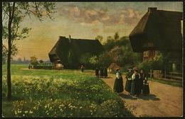 H. Hoffmann : Sonntag Morgen  -  Gemälde-Ansichtskarte Ca.1925    (11848) - Malerei & Gemälde