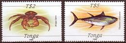 Tonga MiNr. 1961/62 ** Freimarken: Meerestiere - Tonga (1970-...)