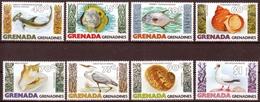 Grenada - Grenadines MiNr. 340/47 ** Fische, Meeresschnecken Und Seevögel - Grenada (1974-...)