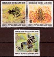 Kamerun MiNr. 877/79 ** Frösche - Kamerun (1960-...)