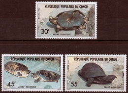 Kongo MiNr. 890/92 ** Schildkröten - Dem. Republik Kongo (1997 - ...)