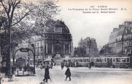 75 - PARIS 06 - La Fontaine De La Place Saint Michel - District 06