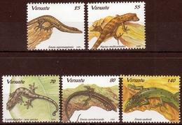 Vanuatu MiNr. 976/80 ** Echsen - Vanuatu (1980-...)