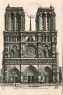 5MF 227. PARIS - FACADE DE L' EGLISE NOTRE DAME - Notre Dame De Paris