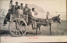 CPA, Carro Siciliano,non écrite, Animée - Unclassified