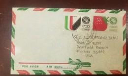 O) 1991 CIRCA- MEXICO, MEXICO EXPORTAMOVIE THEATER - MEXICO EXPORTASTRAWBERRIES, AIRMAIL TO USA - Mexico