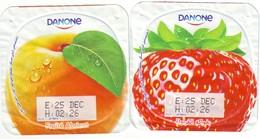 Algérie- Danone - 2 Opercules De Yaourt. - Milk Tops (Milk Lids)