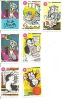 6 Petites Cartes à Jouer Chaton Chat Chats Humour Humoristique Matou Minouche Piano - Cartes