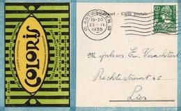 N° 340 Mercure Sur CP Publicitaire COLORIS (Peinture - Schildersvak) D'Antwerpen Vers Lier - 1932 Cérès Et Mercure