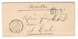 21054 - De PARIS Pour TOUL - Storia Postale