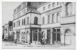LORIENT EN 1912 - N° 100 - L' HOTEL DE VILLE ET LA CRECHE MUNICIPALE AVEC PERSONNAGES - CPA  VOYAGEE - Lorient