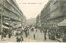 WW 2 Cpa 59 LILLE. Gare Rue Faidherbe Et Statue Pasteur - Lille