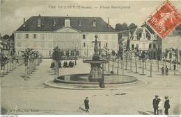 Promotion 2 Cpa 23 GUERET. Place Bonnyaud Et Route De Saint-Feyre - Guéret