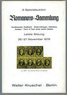 9. Kruschel Auktion 1976 - Romanow Teil 5 NDP, Elsaß-Lothr., Oldenburg, Sachsen, Thurn & Taxis Selten - Auktionskataloge