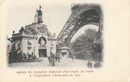 Exposition Universelle 1900 - Agence Du Comptoir D'Escompte De Paris Au Pied De La Tour Eiffel - Carte J.L. Non Circulée - Ausstellungen