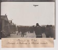 Issy-les-Moulineaux CIRCUIT DE L'EST ARRIVÉE D'AUBRUN DUR BLERIOT SECOND 18*13CM Maurice-Louis BRANGER PARÍS (1874-1950) - Aviación