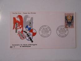 FRANCE FDC YT 1342 ECOLE D'HORLOGERIE, BESANCON - 1960-1969