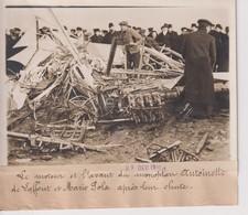 LE MONTEUR AVANT MONOPLAN ANTOINETTE LAFFONT MARIO POLA APRES LEUR CHUTE 18*13CM Maurice-Louis BRANGER PARÍS (1874-1950) - Aviación