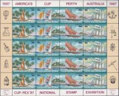 Cocas Keeling Islands 1987 Sai;boats Sc 158 Mint Never Hinged Sheet - Kokosinseln (Keeling Islands)