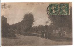 76 La Londe (La Loude) La Place De L'Ourail. Dos Cachet Rouge Militaire - Andere Gemeenten