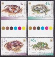 Cocos Keeling Islands 2000 Crabs Sc 333-34 Mint Never Hinged - Kokosinseln (Keeling Islands)