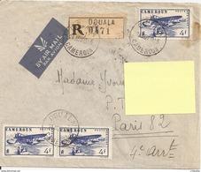 CAMEROUN DOUALA 1945 - ENVELOPPE TIMBREE Pour FRANCE - Briefe U. Dokumente