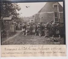 MANOEUVRES DE L'EST CAPTAIN BELLANGER BLERIOT RECONNAISSANCE VILLAGE OC 18*13CM Maurice-Louis BRANGER PARÍS (1874-1950) - Aviación