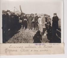 CONCOURS MILITAIRE DE REIMS WEYMANN FELICITE ARRIVÉE  18*13CM Maurice-Louis BRANGER PARÍS (1874-1950) - Aviación