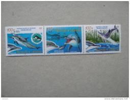 NOUVELLE CALEDONIE   P 965/967  * *  SURCHARGES + 10 FRS FAUNE MARINE CETACES  DAUPHINS - Nueva Caledonia