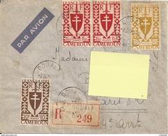 CAMEROUN DOUALA 1945 - ENVELOPPE TIMBREE Pour FRANCE - Kamerun (1915-1959)